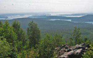 Вид на Волчихинское водохранилище