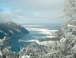 Ангара зимой