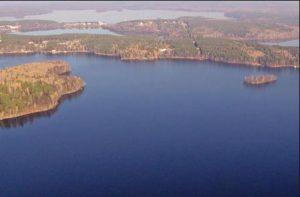 Чебаркуль озеро вид с воздуха