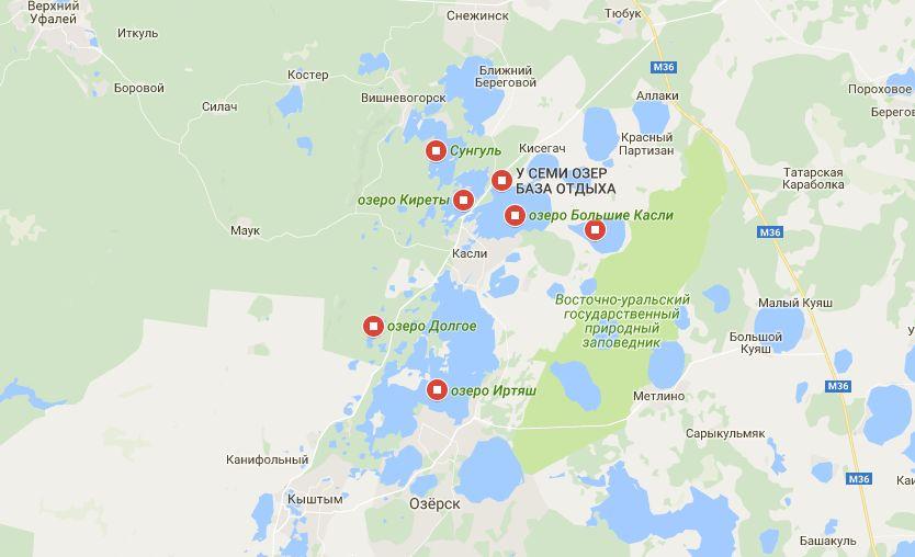 Карта озер челябинской области рыбалка