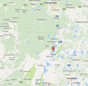Озеро Иртяш на карте