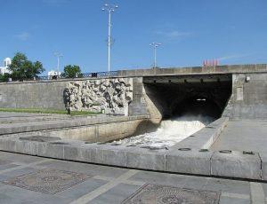 Река Исеть плотина городского пруда