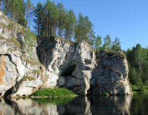 Гроты и пещеры на реке Серга