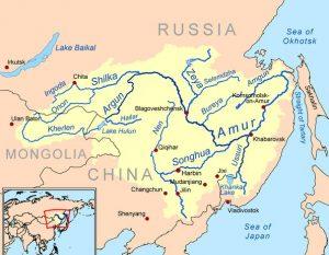 Амур река на карте