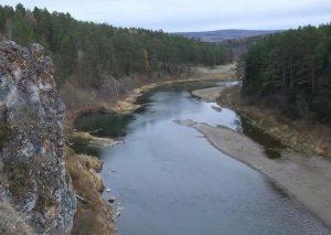 Река Уфа в верхнем течении