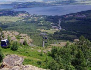 Банное озеро вид с горы