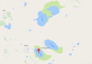 Ширинские озера на карте